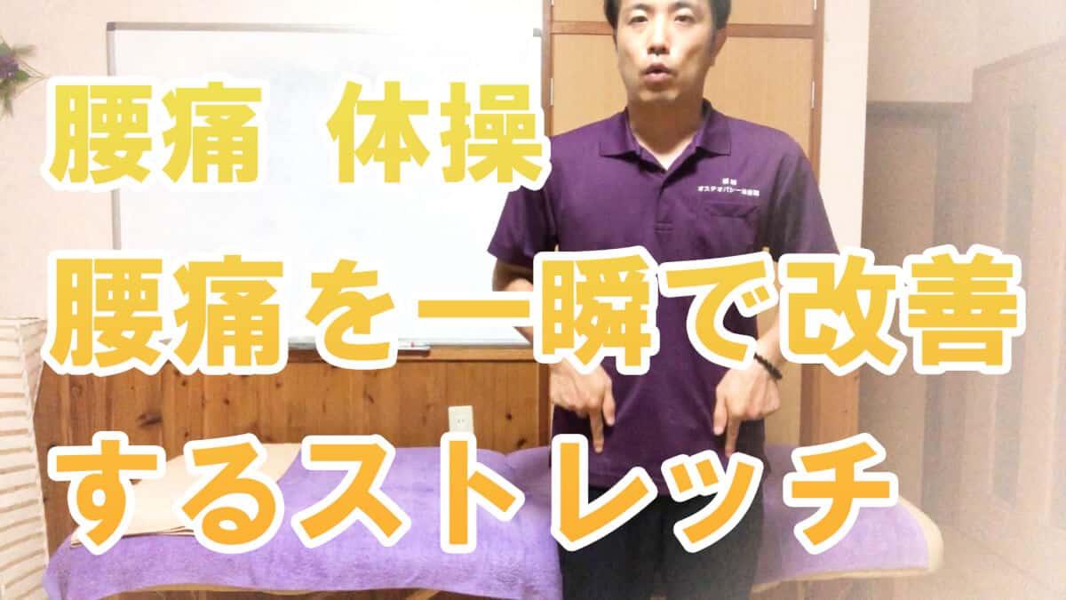【腰痛 体操】腰痛を一瞬で改善するストレッチ