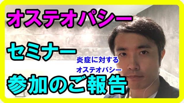 伊丹空港からセミナー報告【オステオパシーへの想い 2019.11】